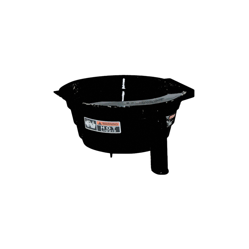BLACK PLASTIC SPLASHGARD FUNNEL WITH DECALS
